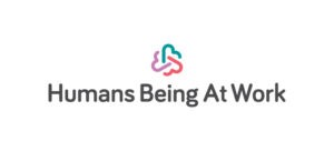 Humans Being At Work Vertical Logo (Colour On White Background) RGB