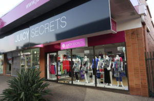 Juicy Secrets Shop Singage